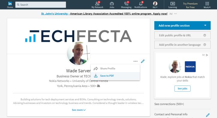 LinkedIn profile 2